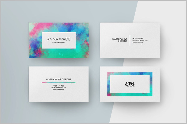 8 Watercolor Business Cards