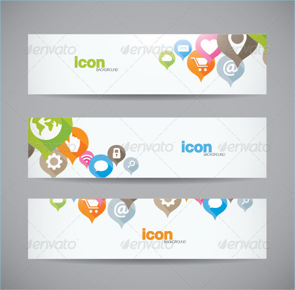 Abstract Web Icon Banner Background