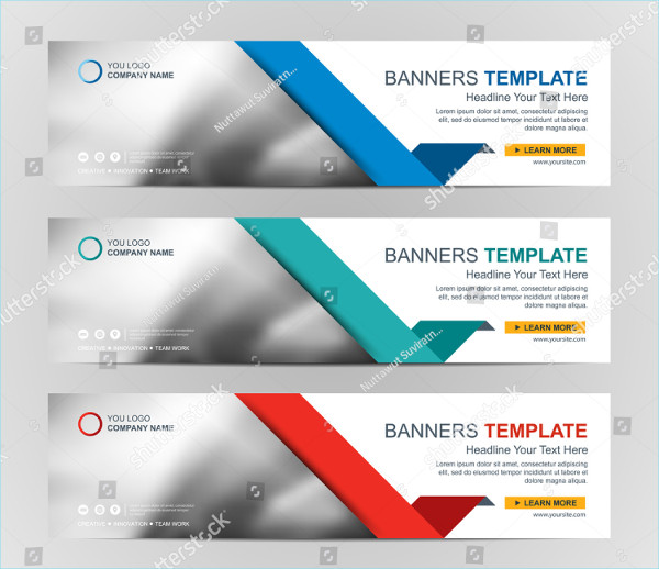 Abstract Web Banner Design Background