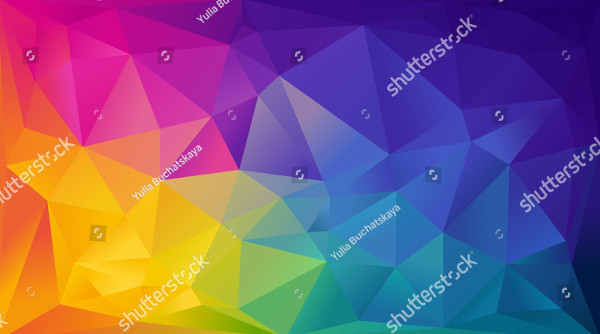 Abstract Rainbow Background of Colored Triangles
