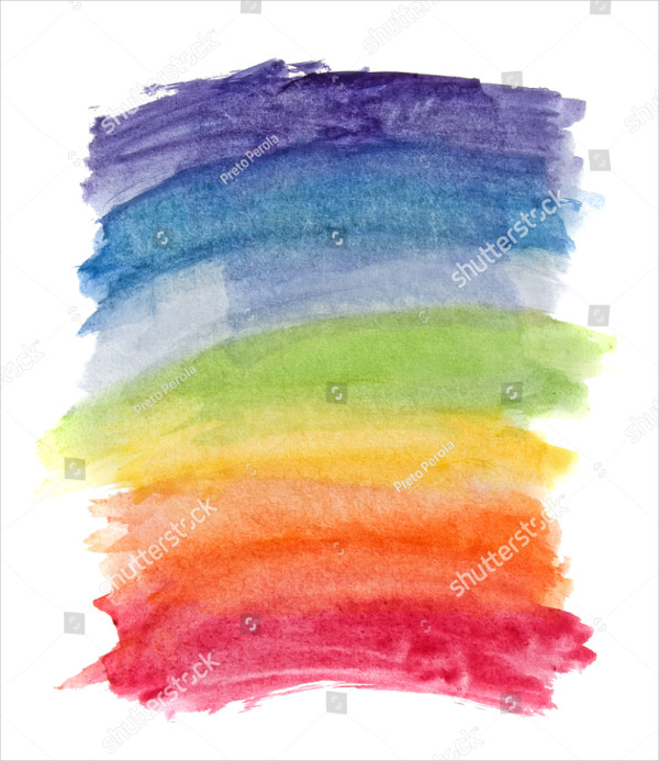 Abstract Watercolor Rainbow Background
