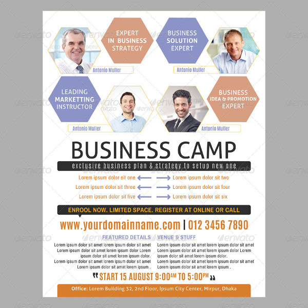 Best Business Training Advertising Flyer Template