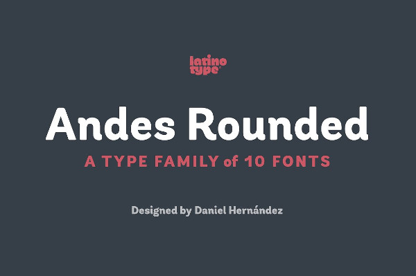 Andes Rounded Fonts