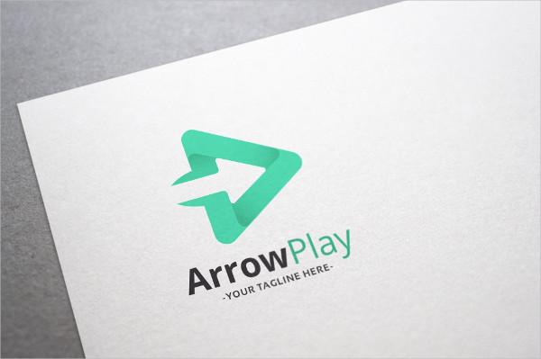 Arrow Play Logo Template