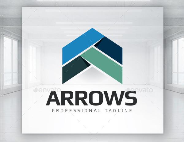 Arrows Head Pointing Logo