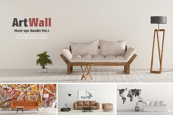 Art Wall Mock-Ups Bundle