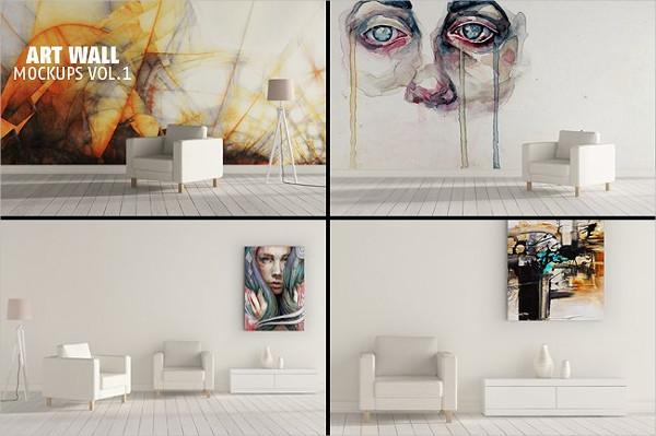 Art Wall Mockups Presentation