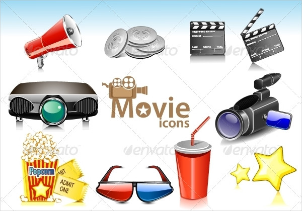 Attractive Movie Icons Collection
