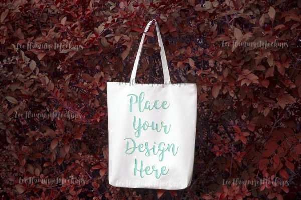 Autumn Fall Winter Tote Bag mockup