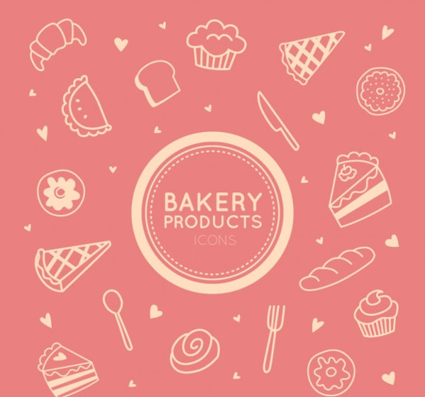 Bakery Product Icons Free Download