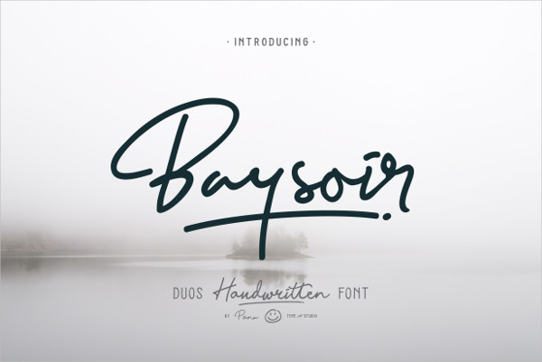 Baysoir Duo Lovely Handwritten Font