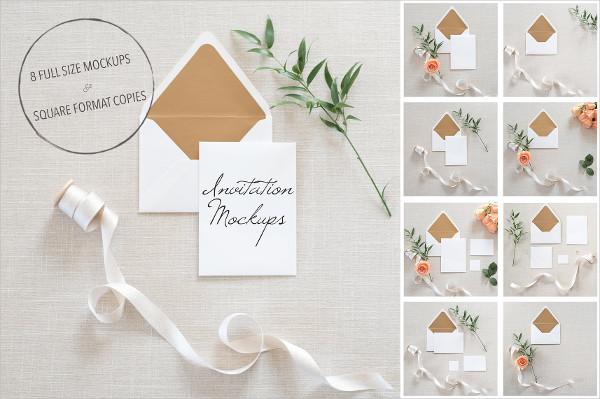 Beautiful Wedding Invitation Mockups