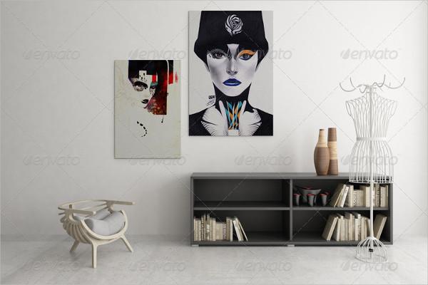 Best Art Wall Showcase Mockups