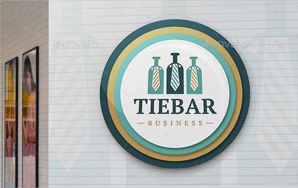 Best Tie Bar Logo Template