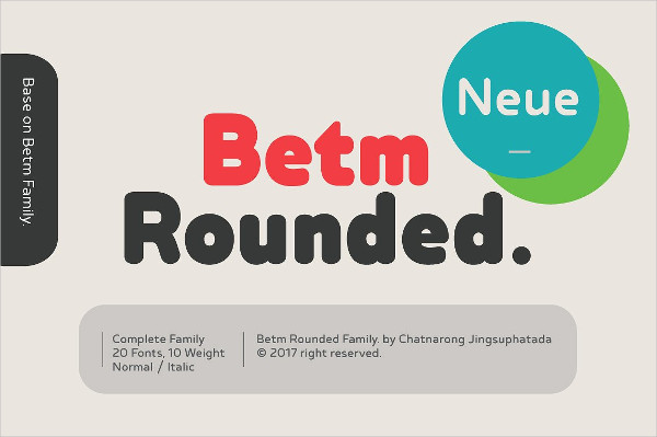 Betm Rounded Font Family