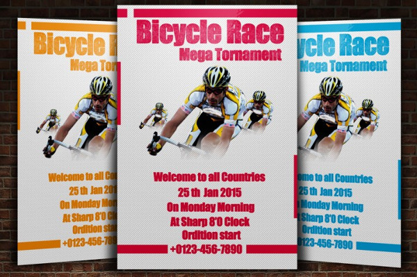 Bicycle Racing Tornament Flyer Templates