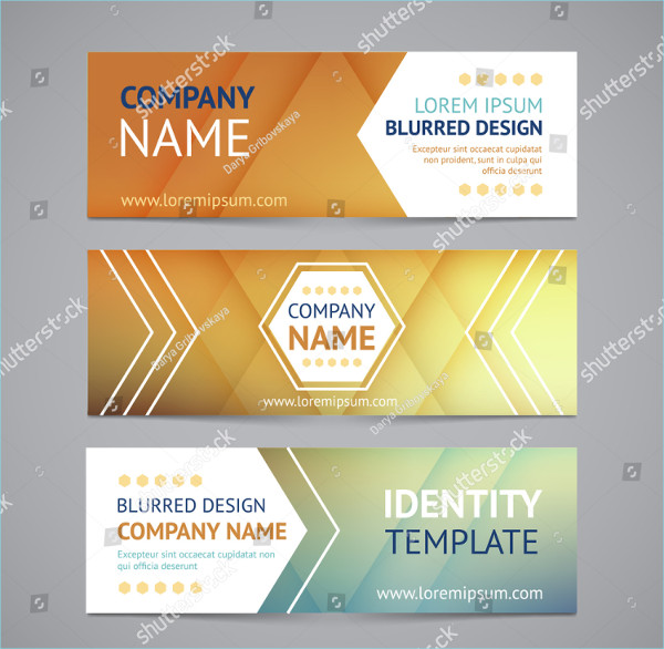 Branding Banners With Blurred Background