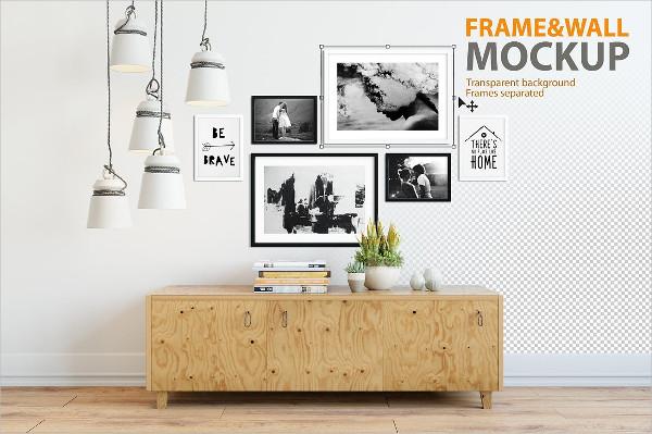 Branding Frame & Wall Mockup