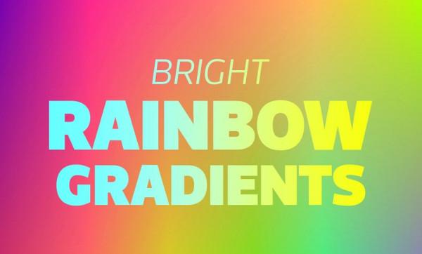 Bright Rainbow Gradient Backgrounds