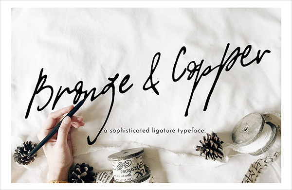 Bronze & Copper Love Fonts