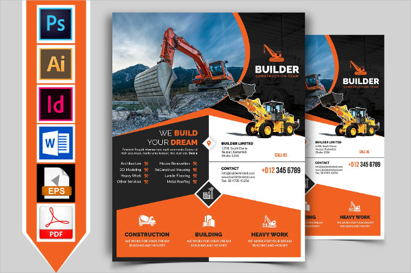 Builder Company Flyer Template