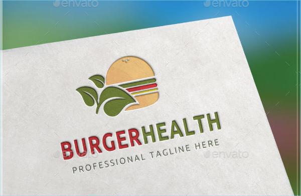 Burger Health Logo Template
