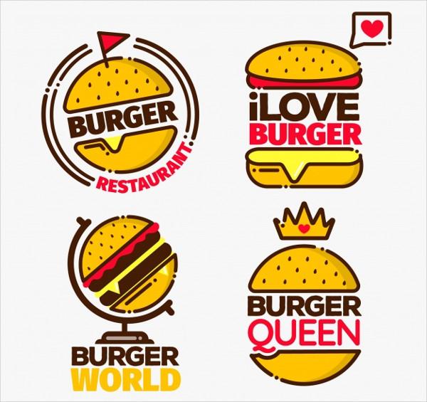 Burger Logos pack Free Donwload