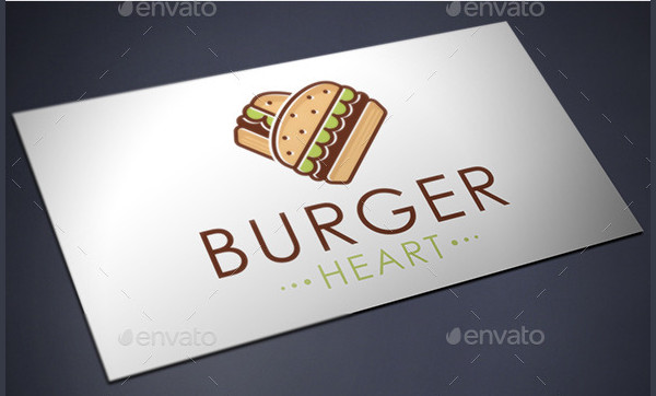 Burger Love Logo Template