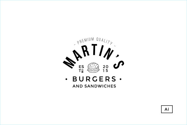 Burgers And Sandwiches Logo Template