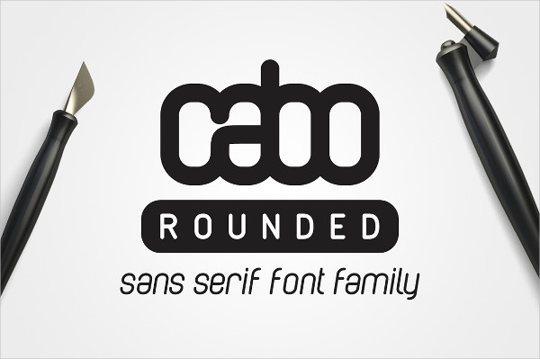 Cabo Rounded Fonts Family
