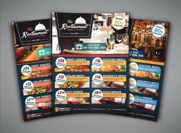 Café & Restaurant Flyer Template