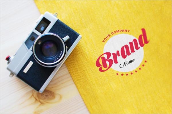 Camera & Logo Mock-Up Free PSD