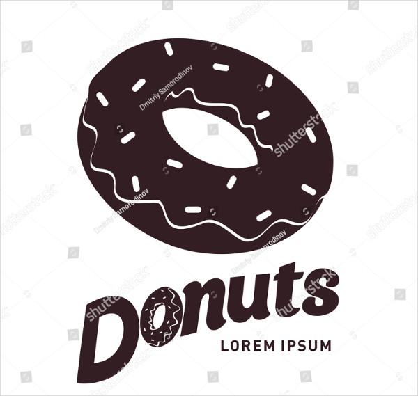 Awesome Donut Logo Vector Illustration