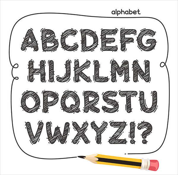 Cartoon Doodle Fonts
