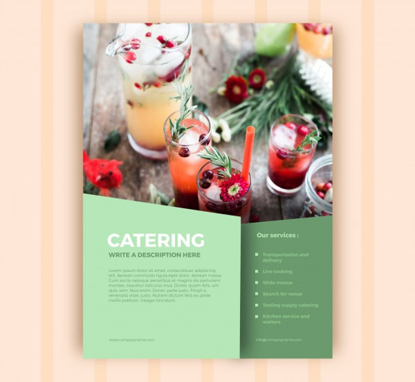 Catering Business Brochure Template Free