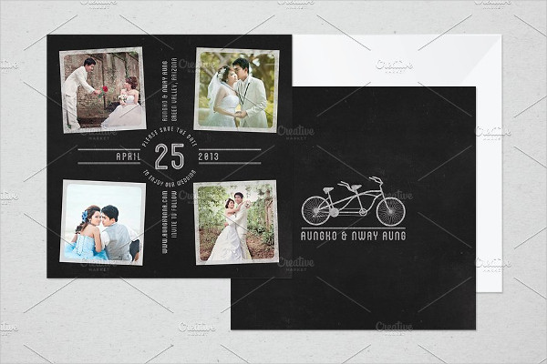 Chalkboard Save The Date Template
