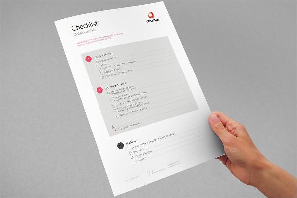 Checklist - Delivery Creative Data