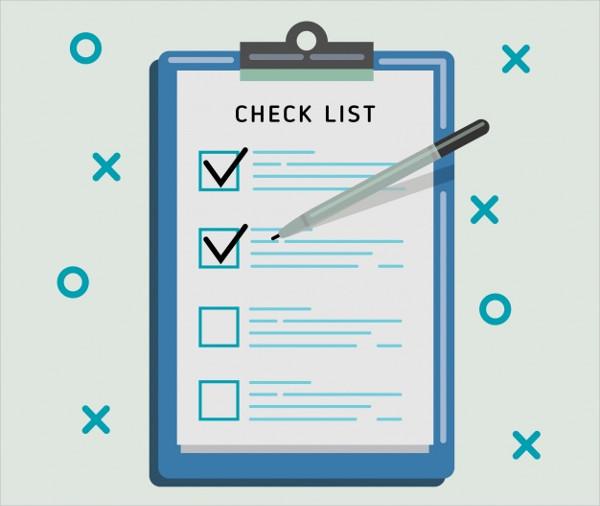 Checklist Background in Flat Design Free