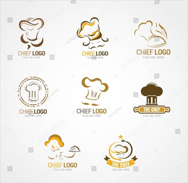 Set of Chef Logos Design