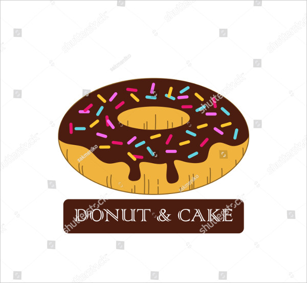 Attractive Donut Logo Vector