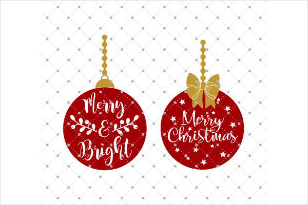 Christmas Ornaments SVG Cut Files