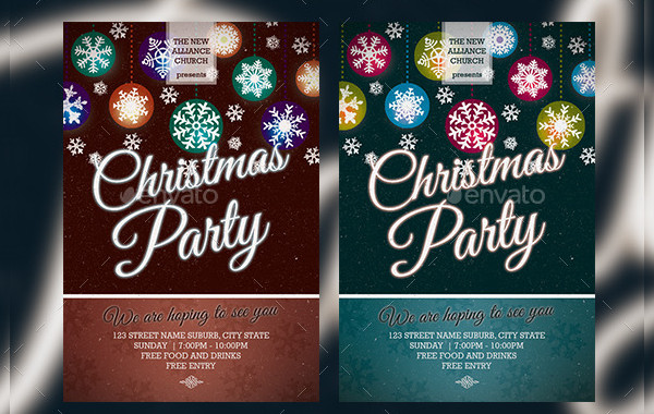 Christmas Party Holiday Event Flyer
