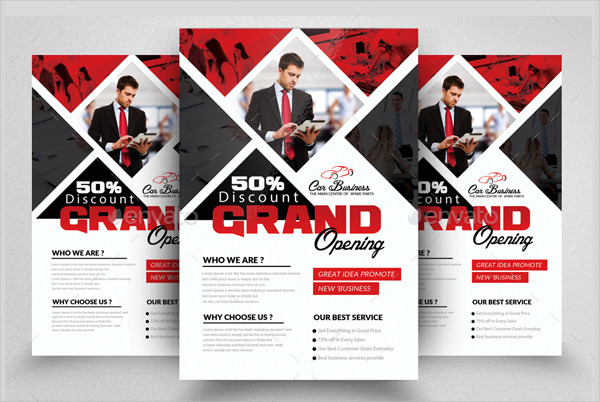 Clean Grand Opening Flyers