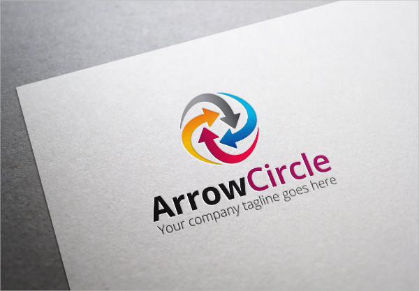 Clean Arrow Circle Logo Design