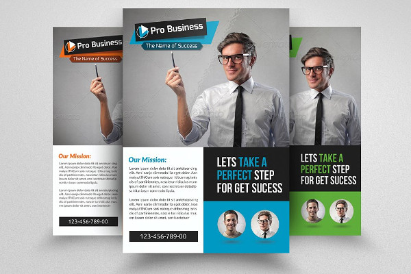 Clean Business Executive Coach Flyer Template