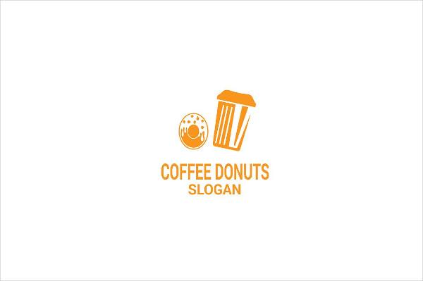 Clean Coffee Donuts Logo Design
