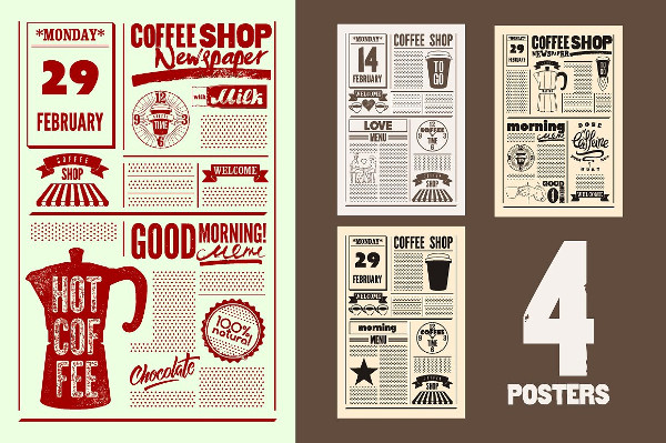 Coffee Shop Vintage Posters
