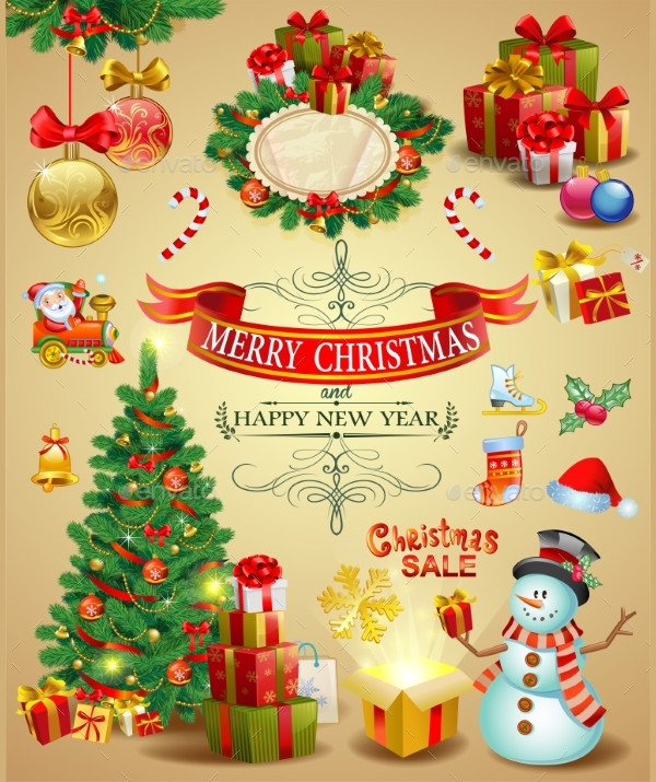 Collection of Christmas Ornaments Designs