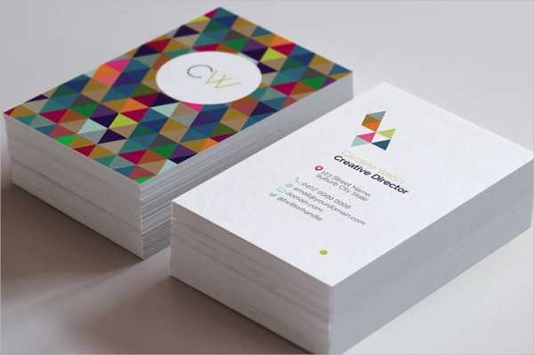 Colorful Monogram Business Card