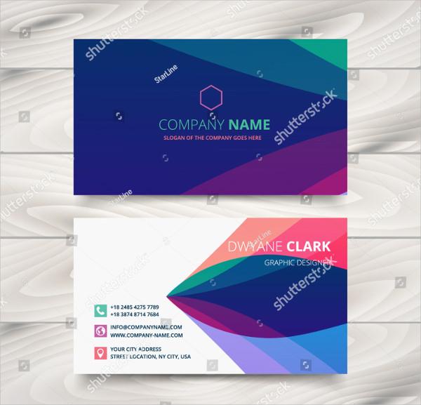 Colorful Purple Stylish Business Card Designn